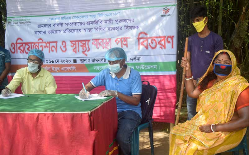 Youth Assembly Served Bagdi Community to Get Health check-ups and prescriptions for coronavirus prevention