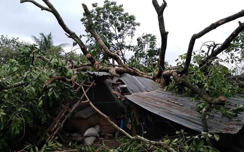 Youth Assembly (YA) explored to observe and alleviate the sufferings of people affected by cyclone Amphan: Youth Stood by the family of the day laborer losing the child and home