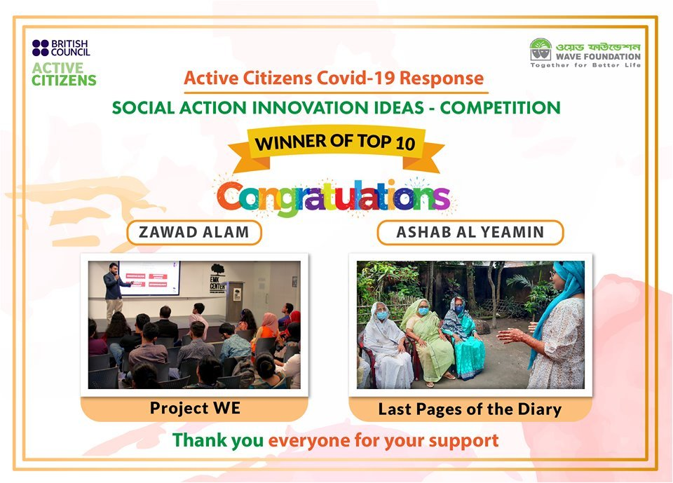 WAVE Youth Leaders' Initiatives Won the Social Action Innovation Ideas Competition